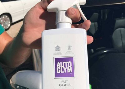 All Detailing Adelaide staff use a special window cleaning spray-on cleaner