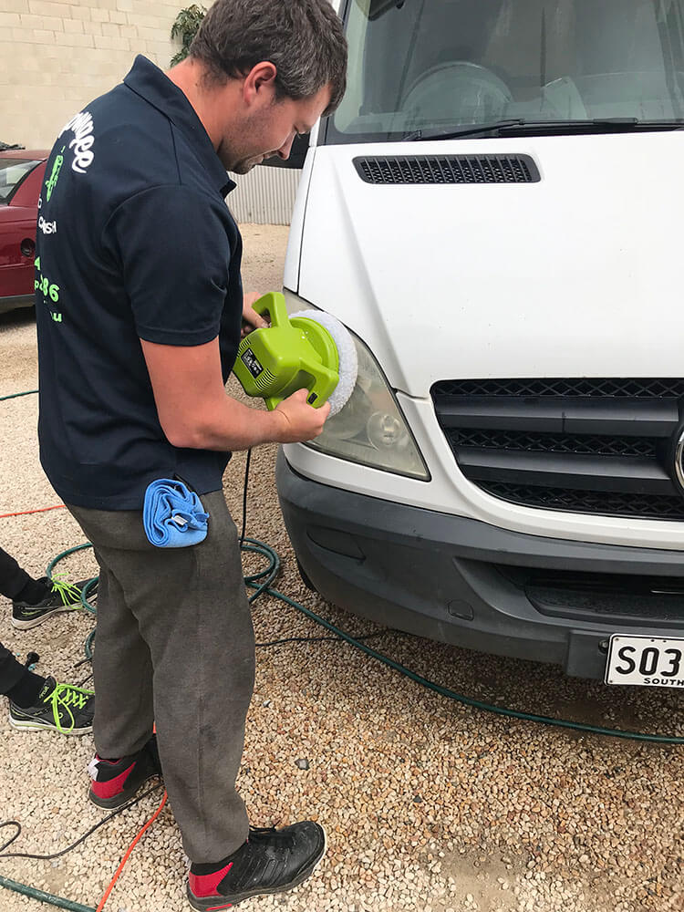 Headlight restoration by Detailing Adelaide's team of expert detailers